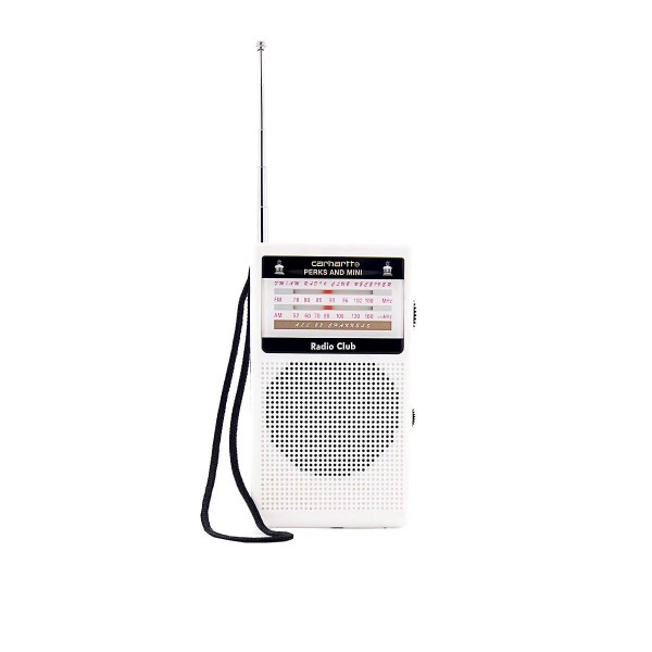 Carhartt Radio Club Portable Plastic Wht