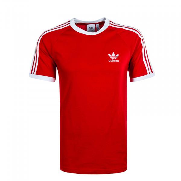 Herren T-Shirt 3 Stripes Scarlet White