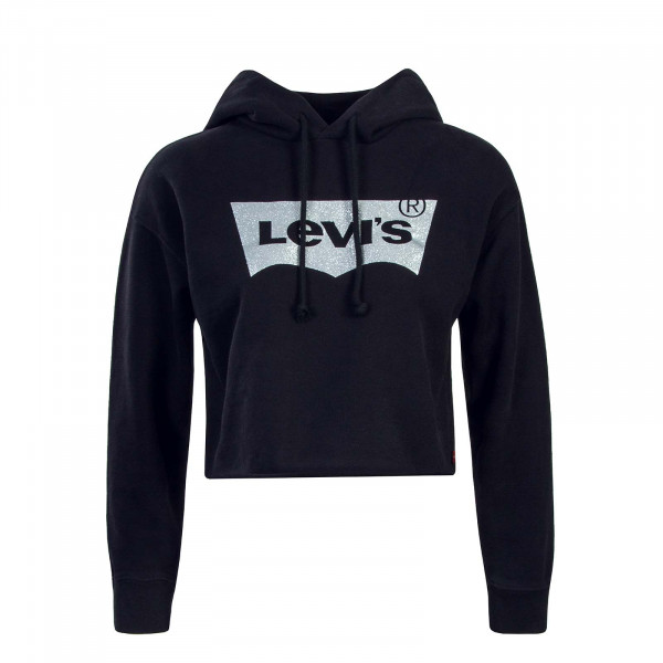 Levis Wmn Hoody Graphic Raw Cut Black