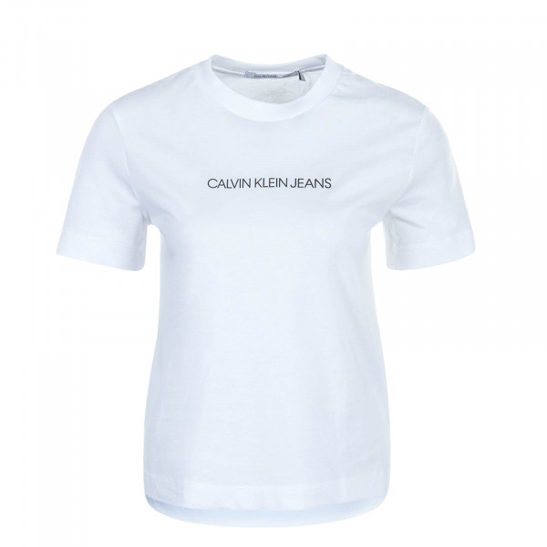 Damen T-Shirt Shrunken Institution White