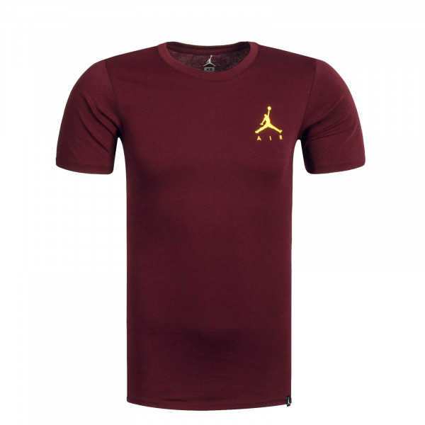 Herren T-Shirt Jumpmann Air Emb. Bordo Yellow