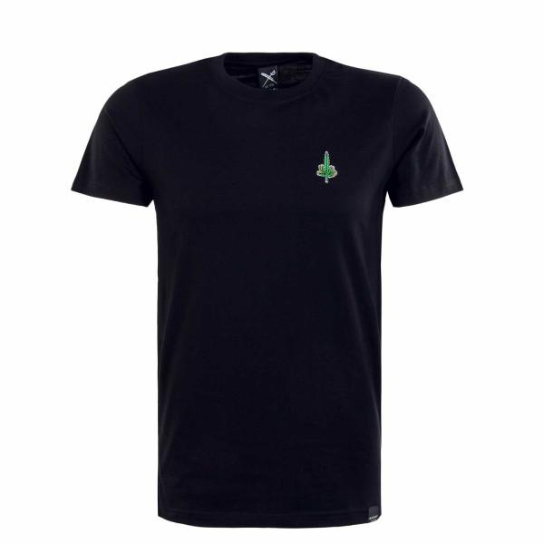 Herren T-Shirt - Hemp Emmb - Black