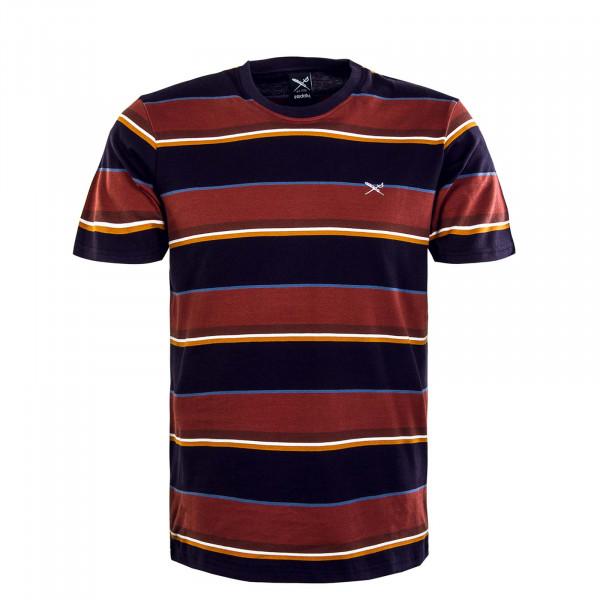Herren T-Shirt - Rustico - Stripe / Dark Rum