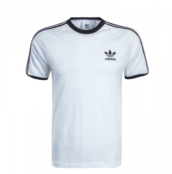 Herren T-Shirt 3 Stripes White Black