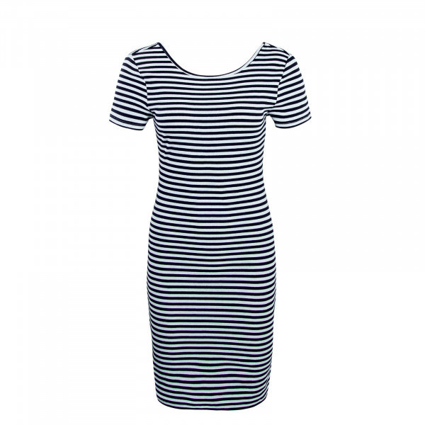 Damen Kleid Bella Stripe Navy White