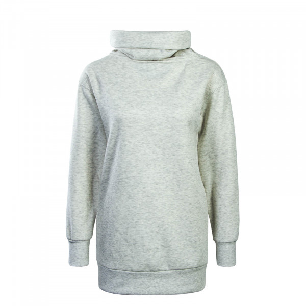 Damen Sweatshirt Long Jenny Grey Melange