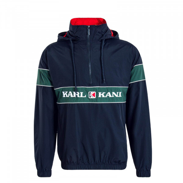 Herren Windbreaker Retro Navy Green