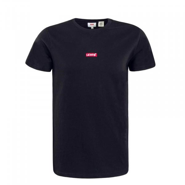 Herren T-Shirt Relaxed Baby Tab Black Red