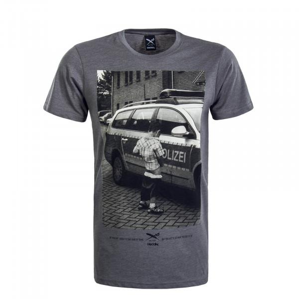 Herren T-Shirt Pissizei Grey