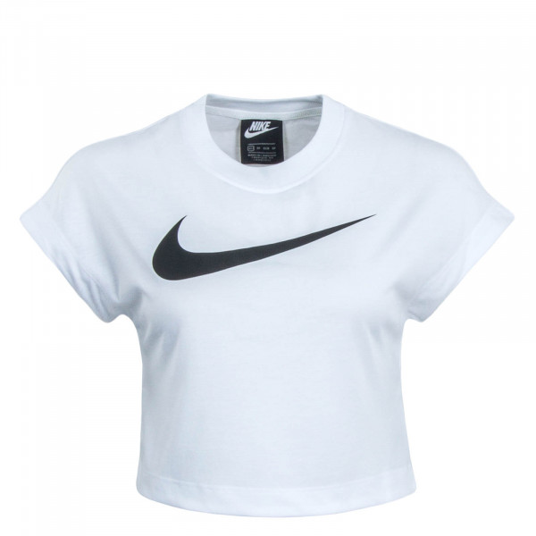 Damen Crop Top NSW Swoosh White Black