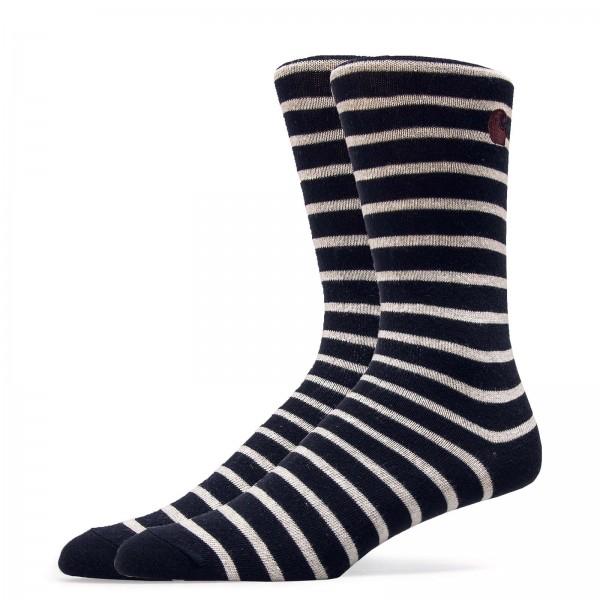 Carhartt Socks Robie Stripe Navy Beige