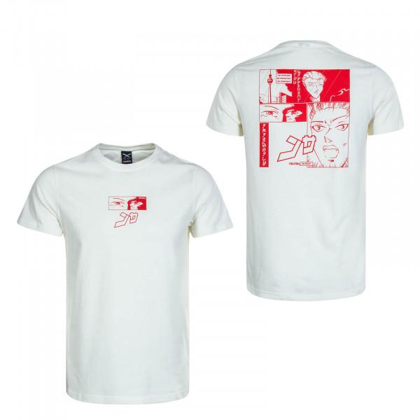 Herren T-Shirt Kao Beige Red