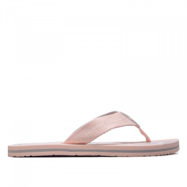 Tommy Wmn Slide Flat Beach Rose Silver