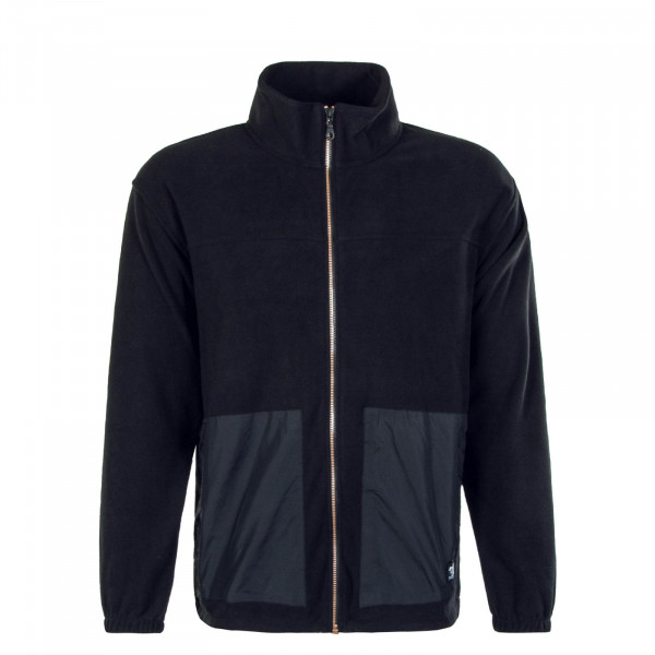 Herrenjacke Skate Zip Mock Neck Jet Black