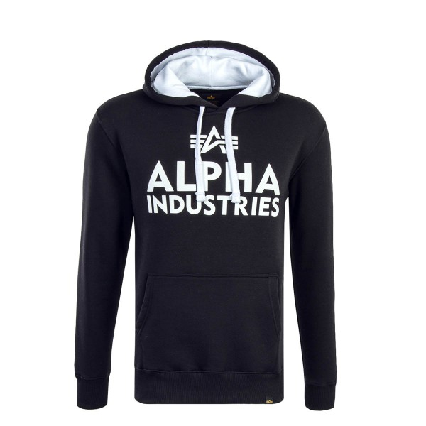 Alpha Hoody Foam Print Black White