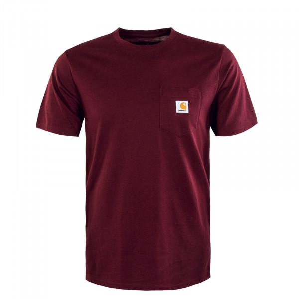 Herren T-Shirt - Pocket - Wine