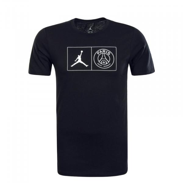 Herren T-Shirt PSG Jock Black White