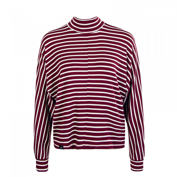 Damen Longsleeve Frabasia Stripe Red  White