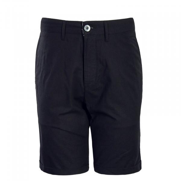 Herren Short Golfer Chambray Black
