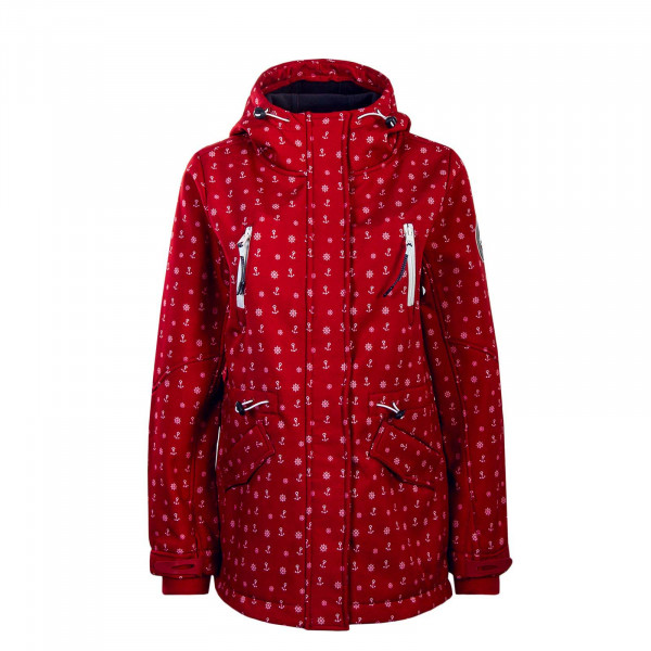 Damen Jacke 6836 Red White