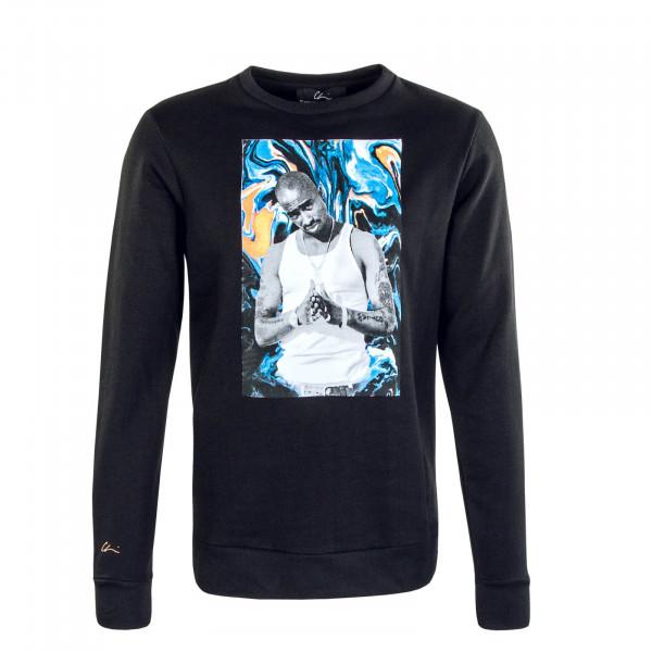 Herren Sweatshirt CHI MODU Crew Pac Paint Black Print Colo