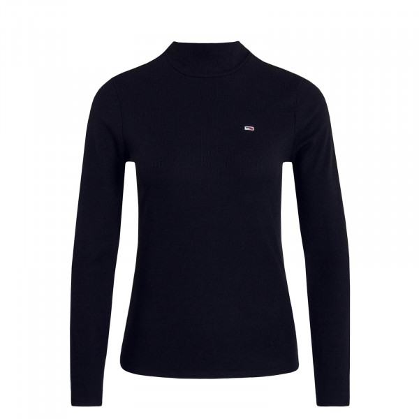 Longsleeve TJW Rib Mock Neck Black