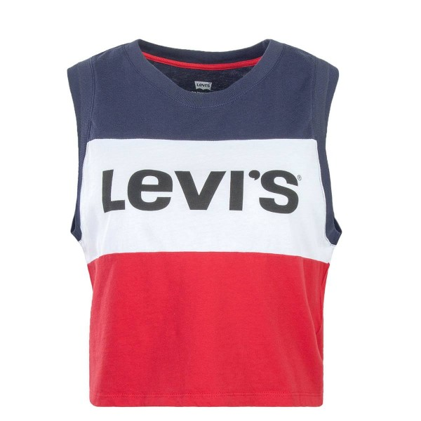 Levis Wmn Crop Top Colorblock NavyWhtRed