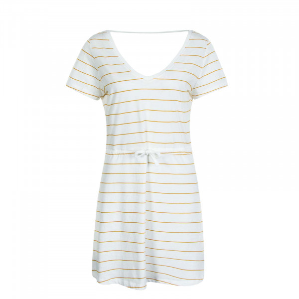 Kleid May Life V-Neck Stripe Cloud Dancer