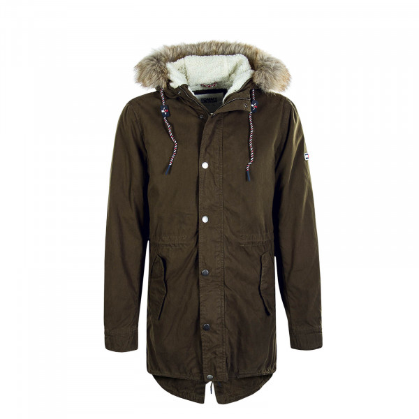 Herren Parka Cotton Lined Olive