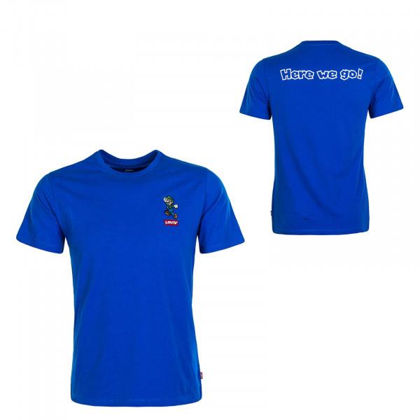 Herren T-Shirt Graphic Luigi Royal