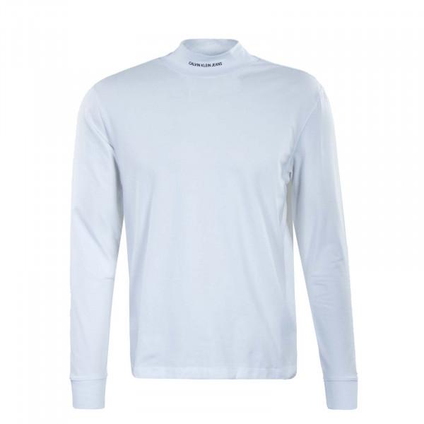 Herren Longsleeve - Micro Branding - White