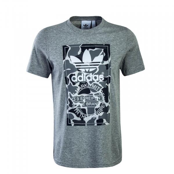 Herren T-Shirt Label Grey Camo