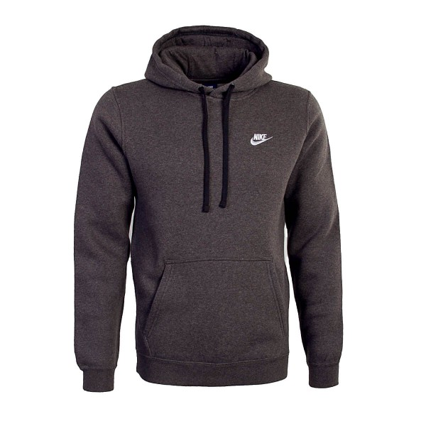 Nike Hoody NSW FLC Club Charcoal White