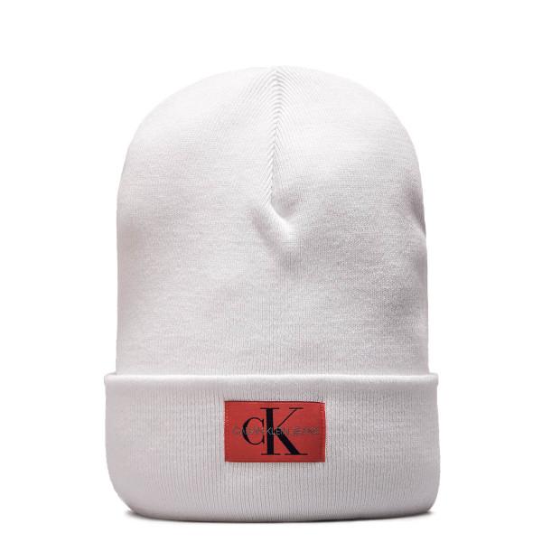 CK Beanie Monogram White Red