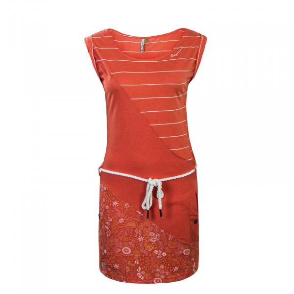Dress Tag Stripes Organic Coral