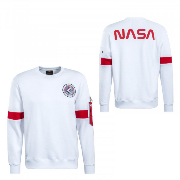 Herren Sweatshirt Apollo 15 White