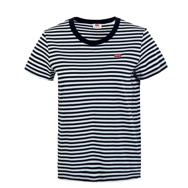 Damen T-Shirt - Perfect Raita Stripe - Caviar White