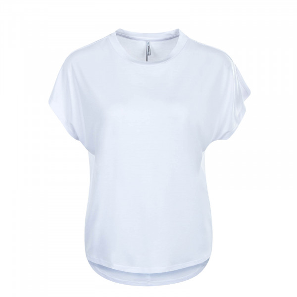 Damen T-Shirt Free Life O Neck White