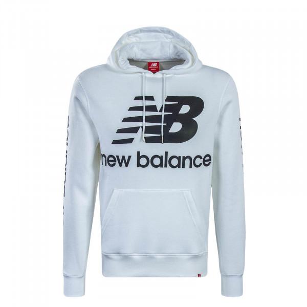 New Balance Hoody Logo White Black