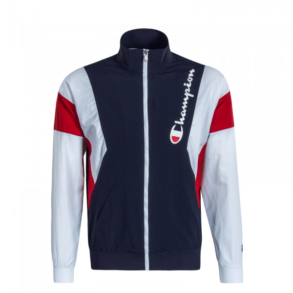 Herren Trainingjacke Navy White