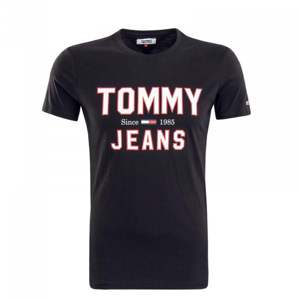Herren T-Shirt 7067 Black White Red