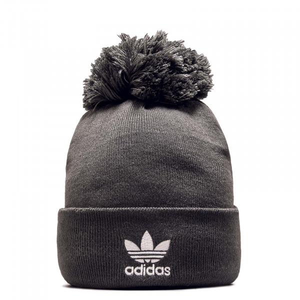 Beanie AC Bobble Knit Grey