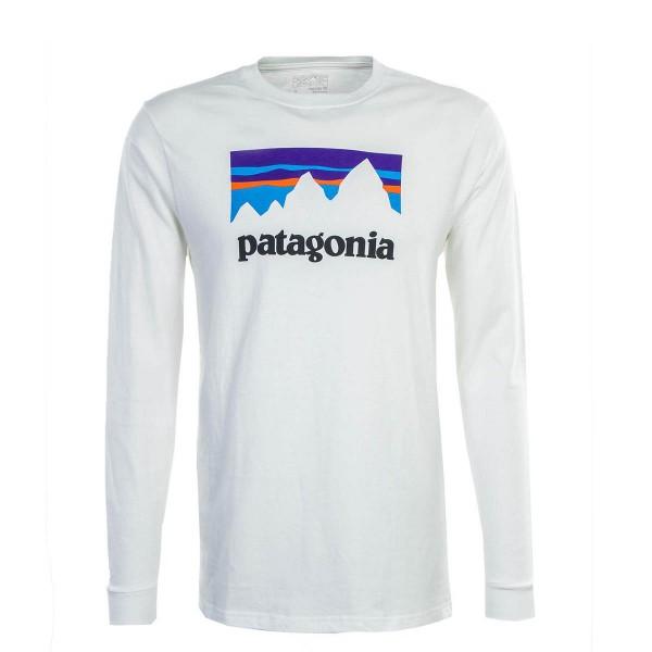 Patagonia LS Shop Sticker White