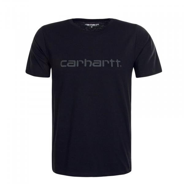 Herren T-Shirt Script Reflective Black