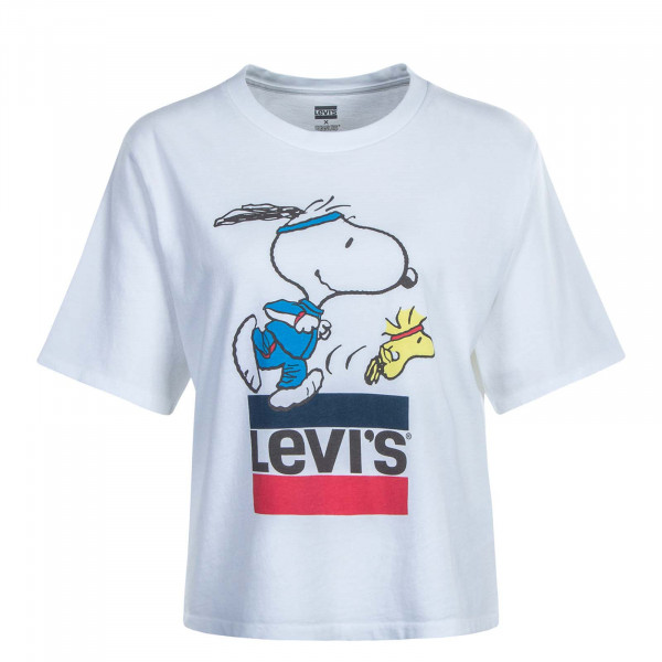 Damen T-Shirt Graphic Boxy Snoopy White