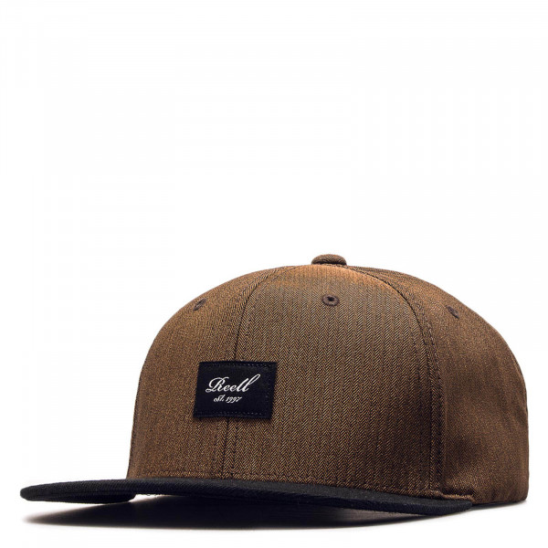 Cap Pitchout Brown Herringbone Black