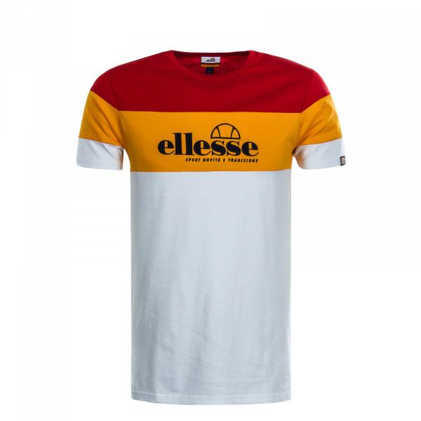 Herren T-Shirt Nossa White Red Orange