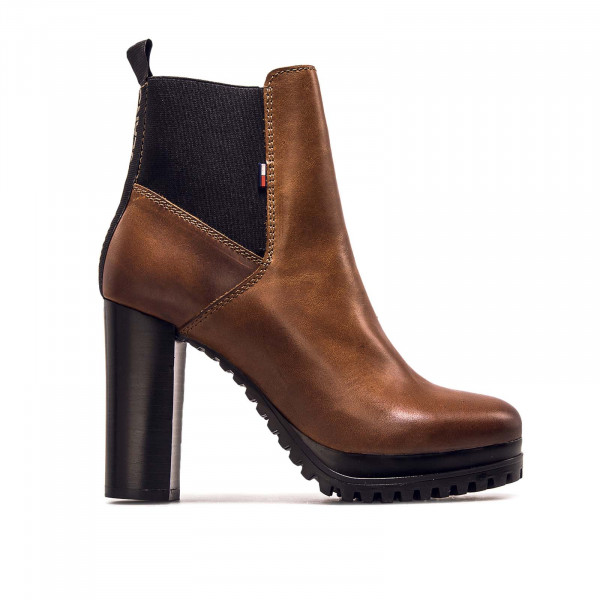 Damen Stiefeletten Essential Cleated Heeled Boot Cognac