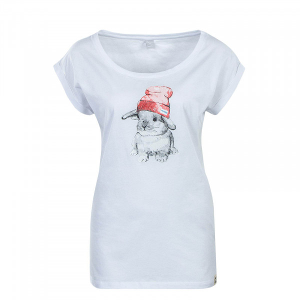 Damen T-Shirt It Hasi White Red
