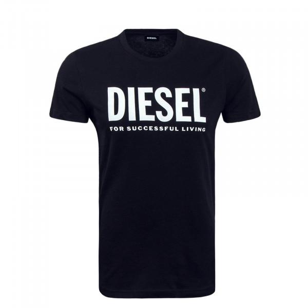 Herren T-Shirt Diego Logo Black White